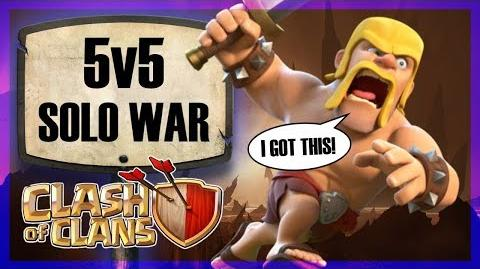 5v5 SOLO WAR Perfect war - so he gave up! Clash of Clans