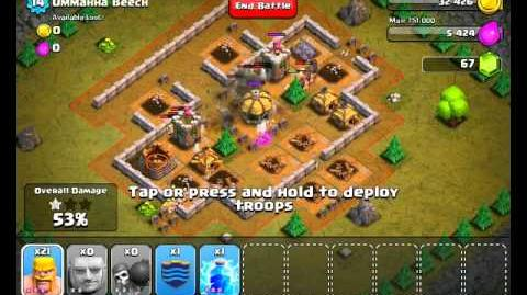 video clash of clans level 24 ommahha beech clash of. Black Bedroom Furniture Sets. Home Design Ideas