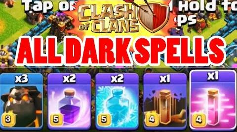 Clash of Clans - ALL DARK ELIXIR SPELLS - Poison Spell, Earthquake Spell, Haste Spell