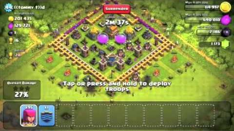 Clash of Clans; How to Deploy Archers