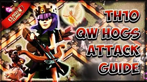 ⚔ Learning Queen Walk + Hog Riders TH10 How To Attack Tutorial 3 Star Guide Clash of Clans ⚔