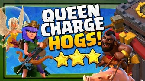QUEEN CHARGE HOG RIDERS for the 3 Stars! TH10 Attack Strategy in Clash of Clans!