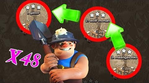 Clash of Clans Full 48 Miner Miner Attack Strategy!!!👍TH11 100% 3 star 💥 9