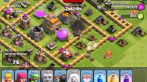 Clash of Clans - Attacking Giants, Wall Breakers, Healers - Shields and Giant Bombs - 1600 trophies-0