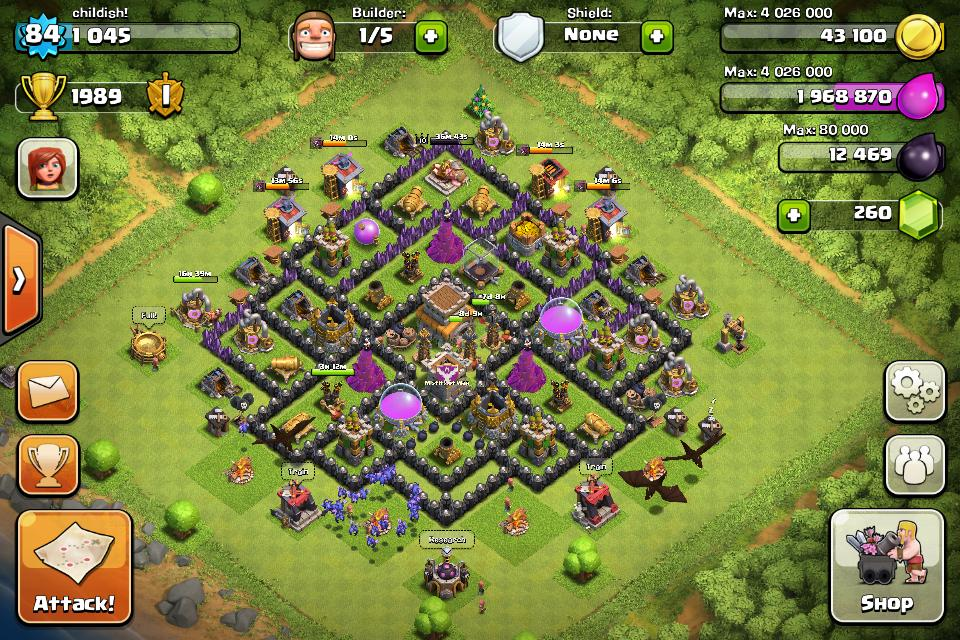 clash of clans town hall 8 farming base layoutsjpg