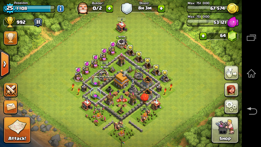 image town hall 5 best defence layout png clash of clans wiki