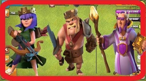 Max Barbarian king VS Archer Queen VS Grand Warden Clash of clans