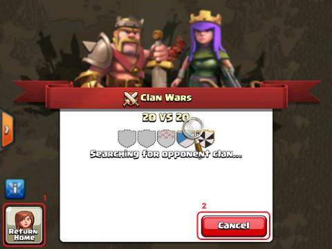 Clankriegs Gegnersuche-FaQ