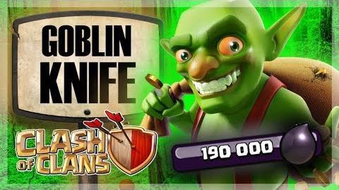 GOBLIN KNIFE TH9 Dark Elixir Farming Clash of Clans