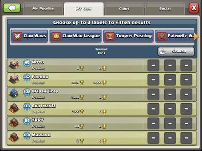 Clan Recruit Screen