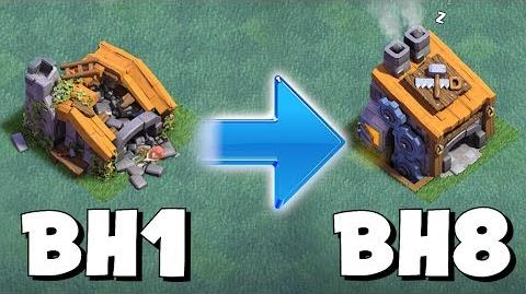 BUILDER HALL SNEAK!?! CLASH OF CLANS NEW LEVELS BH 1-8