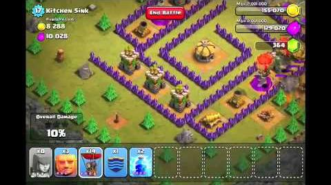 Video Clash Of Clans Level 46 Kitchen Sink Clash Of