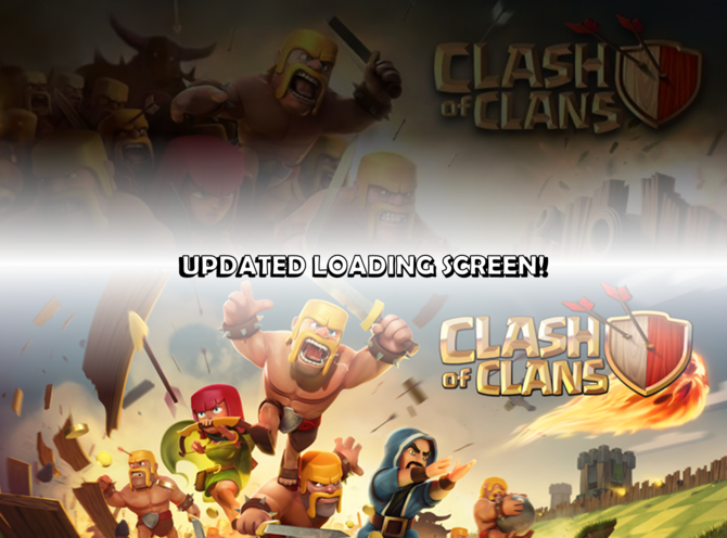 original clash of clans loading screen