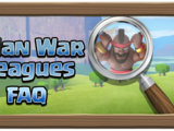 Clan War Leagues FAQ