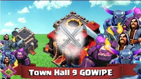 Town Hall 9 Gowipe Clash of Clans Attacking Higher Town Halls!