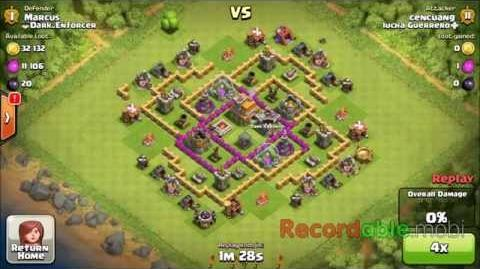 Clash Of Clan Attack All Archers