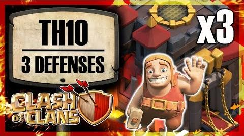 DENIED 4 Town Hall 10 with three defenses Clash of Clans