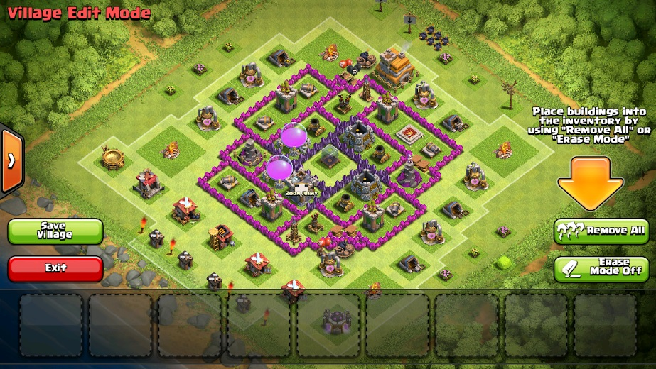 Town Hall 7 Home Base Design Part - 48: CoC Town Hall 7 Layout For Farming.jpg