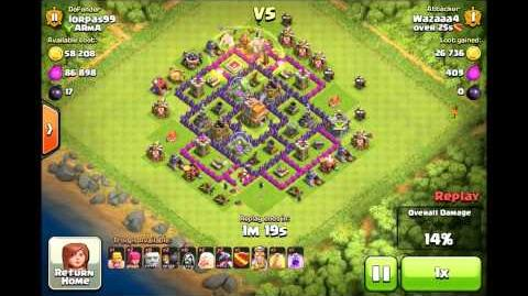 Clash Of Clans BEST TOWN HALL 7 ATTACK! 100% 3 STARS everytime!!
