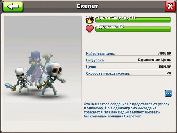 Прогресс Ведьма-Скелет 1