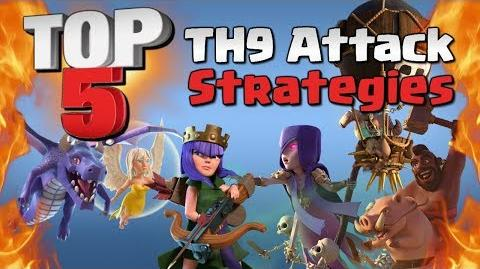 TOP 5 TH9 Attack Strategies to Wreck Bases! Clash of Clans Best TH9 Strategy for War 2017