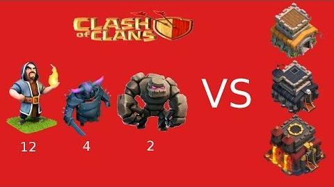 Clash of Clans Rathaus 8 GoWiPe gegen RH8 9 10