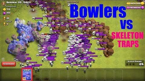 Bowlers Vs Full Skeleton Traps Base - CoC Private Server Gameplay