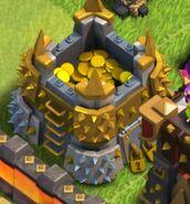 Goldlager gefüllt
