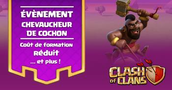 ÉVÉNEMENT CHEVAUCHEUR DE COCHON