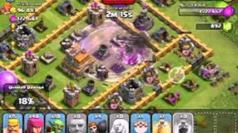 Clash of Clans - Raiding Giants with Healer, Rage spell! 1600 Trophies