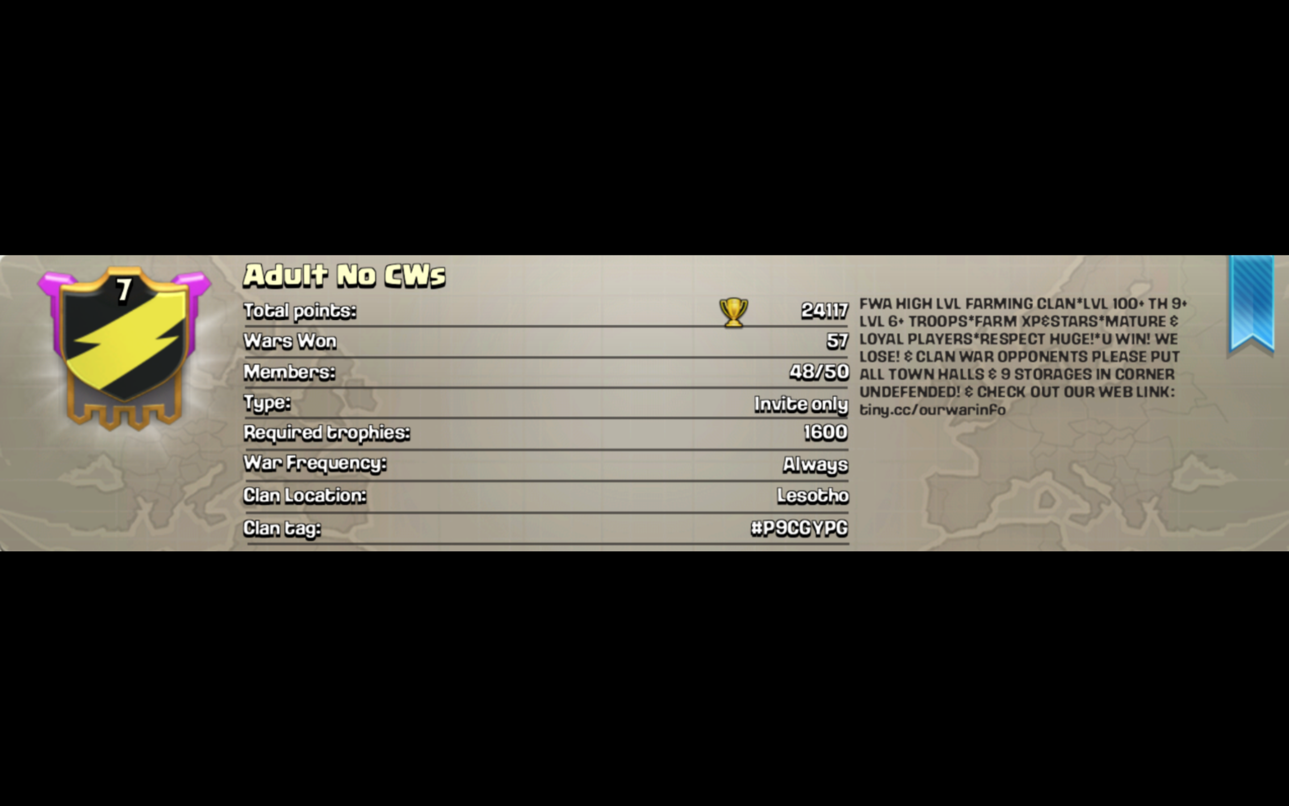 User blogAdult No CWsClash of Clans Adult No CWs Informational