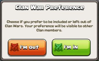 Clan War Preference
