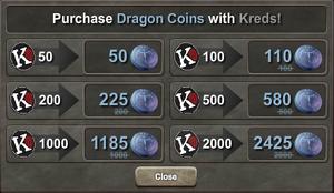 Regular Dragon Coins-Kreds