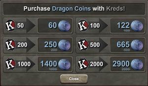 45% Bonus Dragon Coins-Kreds