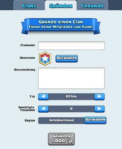 Clan gründen