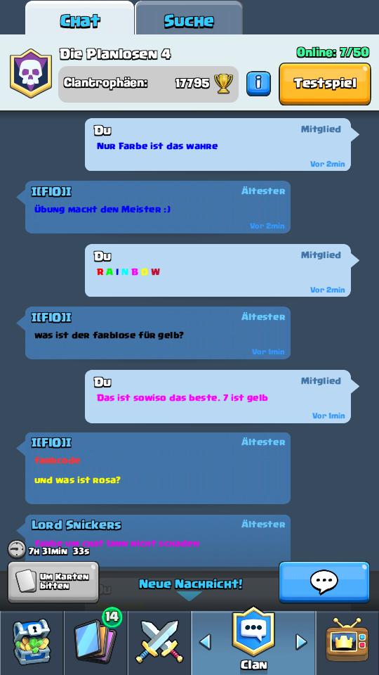 Benutzer BlogWerner Der ChampDie Chatfarbe ändern Clash Royale - Minecraft chat namen farbe andern
