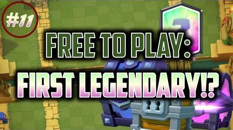 OUR FIRST LEGENDARY!? Clash Royale Free to Play Series Episode 11
