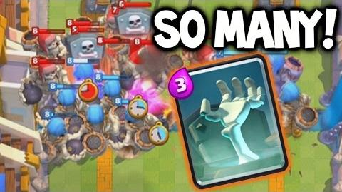 """Clash Royale ★ GIANT TOMBSTONE, GIANT SKELETONS! ★ """"NEW"""" Giant Tombstone!"""