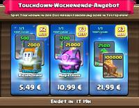 Touchdown-Wochenende-Angebot