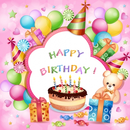 Image Cartoon Birthday Cards Design Vector 537403g Clash