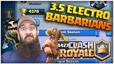 Clash Royale Shocking Electro Barbarian Deck