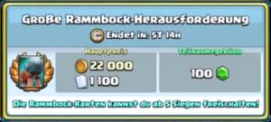 Große Rammbock-Herausforderung
