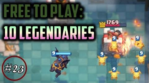 WE GOT 10 LEGENDARIES IN THIS VIDEO!? Clash Royale Free to Play Series Episode 23
