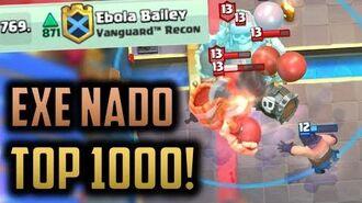 GRAVEYARD EXECUTIONER TORNADO DECK IN THE TOP 1000 - Episode 17 - Clash Royale Ladder Pushing Series