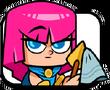 Archer cleaning arrowhead
