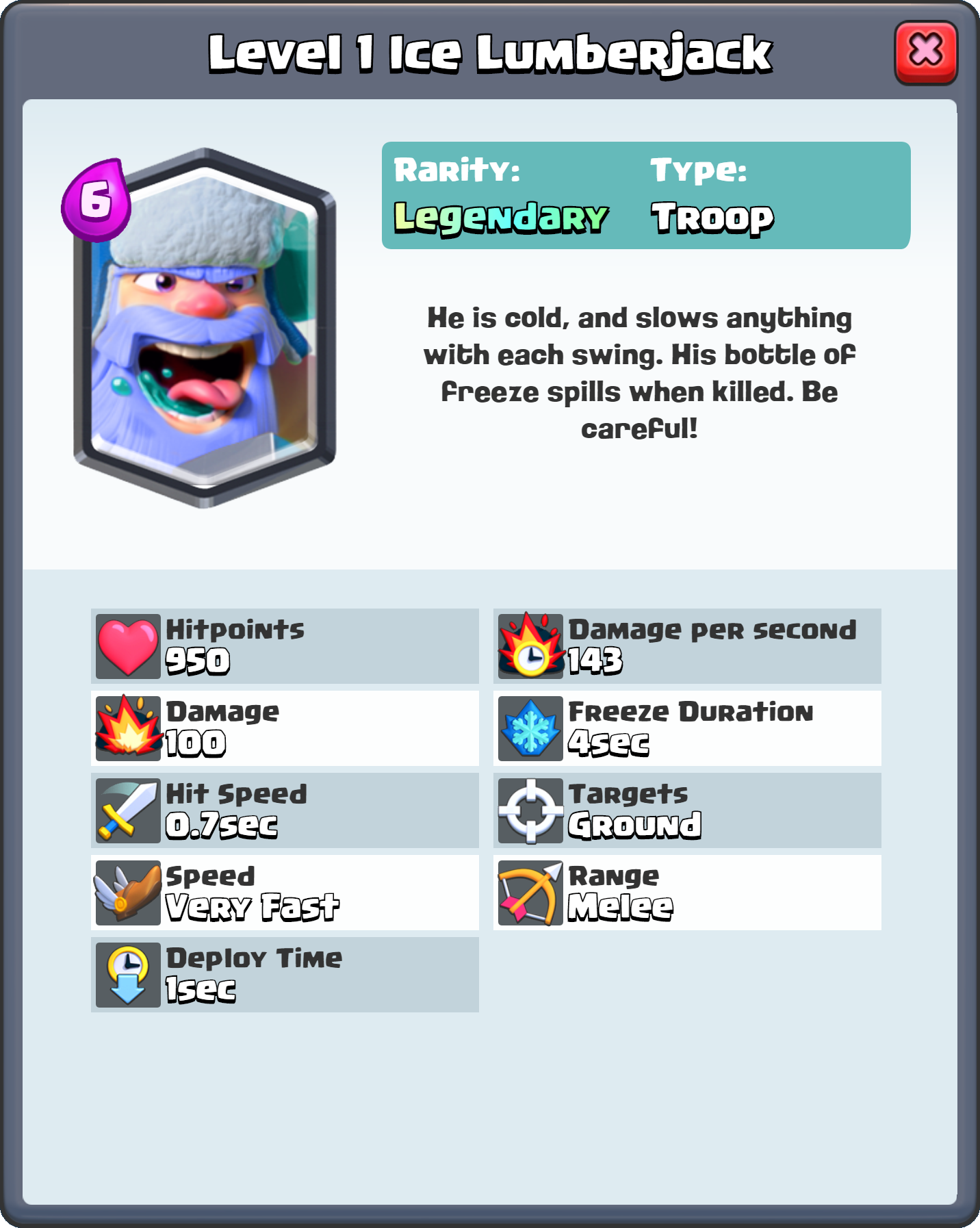Image Level 1 Ice Lumberjack Fq Png Clash Royale Wiki