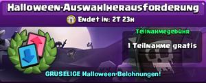 Halloween-Auswahlherausforderung