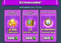 Goldrausch-Sonderangebot Extraschübe
