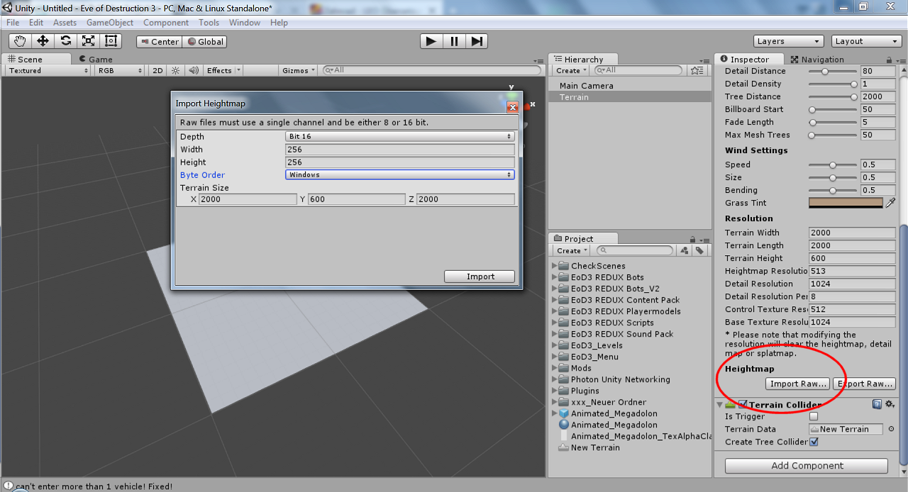 Import Heightmap into Unity | Classic Battlefield Modding