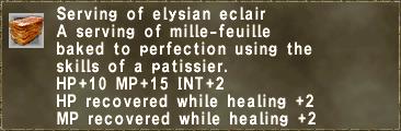 Serving of elysian eclair